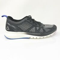 Reebok Womens Print Smooth Clip BS5137 Black Running Shoes Lace Up Size 7.5