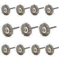10pcs 3mm acier inoxydable brosses à molette pour meuleuse outils rotatifs