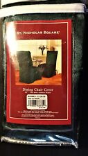 "DINING Armless 42"" Dining CHAIR COVER  NEW Forest Green"