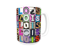 ELOISE Coffee Mug / Cup featuring the name in photos of actual sign letters