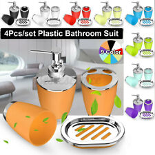 Plastic Bathroom Accessories 4Pcs Suit Washing Cup Toothbrush Holder Soap �G