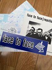 Face To Face Reactionary Stickers Promo Rare