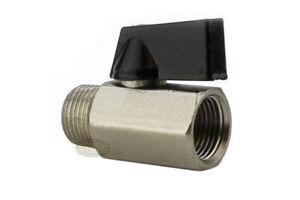 "Mini 3/8"" Male 3/8 Inch Female NPT Brass Ball Shut Off Valve Water Air Fluid WOG"