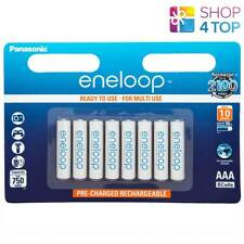 8 PANASONIC ENELOOP RECHARGEABLE AAA HR03 BATTERIES BLISTER PACK 1.2V 800mAh NEW