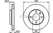BOSCH Juego de 2 discos freno Antes 239mm ventilado SEAT 0 986 478 017