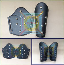 Roman Leather Arm Guards Medieval Reenactment Vambraces Armour Pair Xmas Gift