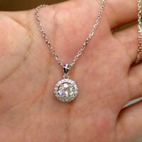 Gorgeous 925 Silver Necklace Pendant for Women White Sapphire Wedding Jewelry