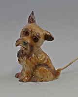 8340188 Porcelain Air Cleaner Figure Dog Terrier Old Electrified
