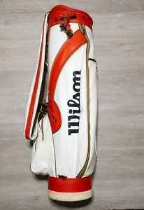 Vintage Wilson White/ Red Golf Bag Made In The USA Classic 6 Hole Caddy shack