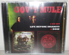 2 CD GOV'T MULE - LIFE BEFORE INSANITY / DOSE - NUOVO NEW