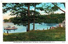 Vintage postcard Endicott Rock The Weirs Lake Winnepesaukee NH beach