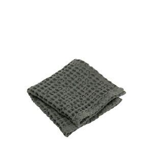 Blomus Caro 12 x 12 Waffle Bathroom Washcloth, Set of 2, Agave Green - 69004