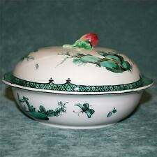 c.1800 Antique Chinoiserie Veuve Perrin French Faience Covered. Bowl, Fishermen