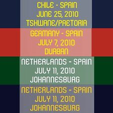 World Cup South Africa 2010 Spain Match Day Transfer MDT for Shirt Jersey