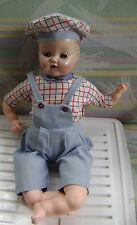 Vintage Composition Doll  #350 on Neck Baby Doll Sleepy eyes Open Mouth w Teeth