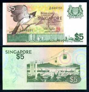 SINGAPORE 5 DOLLARS ND 1976 P 10 UNC