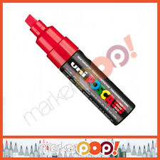 uni Posca Pc-8K 8mm Broad Chisel Tip Paint Marker Pen Red 9002202 New
