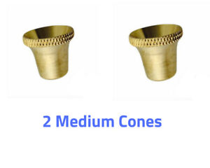 2 Brass Cone Piece Medium Size - Bonza Cone - Metal Cone - Party Cone - Billy