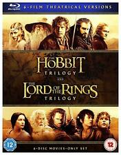 The Middle-Earth Lord of the Rings Hobbit 6-Film Collection Blu-ray Box Set NEW