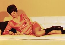 Slide 1960's Pretty Young Brunette Girl Model Go Go Boots Posing on Couch