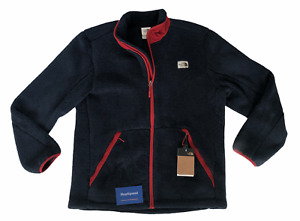 The North Face (Campshire) Mens Size XL Navy Red Full Zip Fleece Jacket New🔥