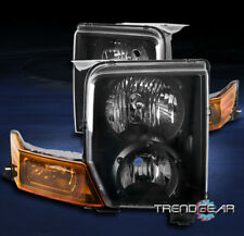 FOR 2006 2007 2008 2009 2010 JEEP COMMANDER SUV REPLACEMENT HEADLIGHT LAMP BLACK