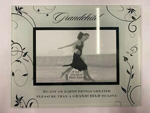 Amelia Art Glass Photo Frame 6 x 4-  Grandchild