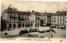 CPA  Grenoble - Place Vaucanson - Hotel des Postes   (243741)
