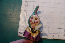 vintage Jester Head On Stick, some damage to nose, stains, early