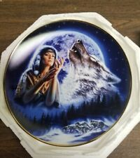 "Royal Doulton ""Maiden of the Mystical White Wolves "" Limited Plate Ra1951 New"