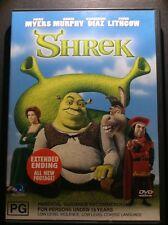 SHREK DVD WITH EXTENDED ENDING & ALL NEW FOOTAGE & BONUS MATERIAL