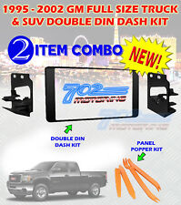 1995-2002 GM FULL SIZE TRUCK & SUV DOUBLE DIN CAR STEREO INSTALLATION DASH KIT A