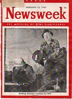 1947 Newsweek January 13 - Al Capone's heirs; Gandhi; Formosa; China marches