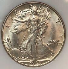 1939-D Liberty Walking Half Dollar - NGC MS64