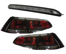 RÜCKLEUCHTEN HECKLEUCHTEN + 3. LED BREMSLEUCHTE SCHWARZ VW GOLF 7 VII Limousine