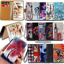Leather Wallet Stand Magnetic Flip Case Cover For Various Doogee phones + Strap
