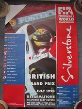 Ayrton Senna - Formula One - British G.P. Racing Poster - 1993 - Silverstone 00002715