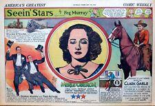 Seein' Stars - half-page Sunday comic Feb. 18, 1940 - Clark Gable, Merle Oberon