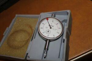 Mitutoyo 2046 Dial Indicator 0-10mm X 0.01mm Grad