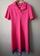 60s 70s vintage pink dress 10 mod groovy fab