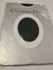 Christian Dior Pantyhose Navy Blue Sz 4 Sheer Control Top Demi-toe 4417 Diorella