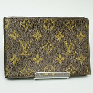 LOUIS VUITTON Vintage Photo ID Pass Case Card Holder Case Monogram Brown
