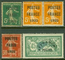 EDW1949SELL : FRANCE 5 Very Fine, Used Precancels. Yvert Catalog €375.00.