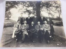 Vintage Photograph Professional Men In Suits Under Tree 1920's 21468