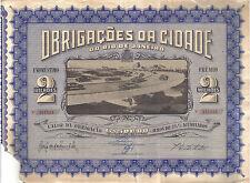 Original Brazil 1959 Loan City Rio de Janeiro cr 500.00 Uncancelled deco