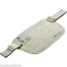 DesignGo RFID Blocking Waist Stash Passport Money Belt Travel Pouch 675 Tan