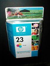 HP 23 Tri Color Inkjet Print Cartridge Unopened - 2 Available