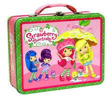 Strawberry Shortcake Metal Tin Lunch Box Carry All Keepsake Case NEW