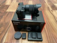 Sony Alpha A6500 24.2 MP Digital Camera with 18-135mm Zoom Lens and 3 Batteries