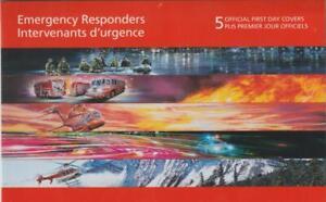CANADA 2018 FDC #3124-28 Emergency Responders (Set of 5)